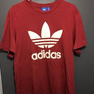 Adidas Trefoil T Shirt (Red)